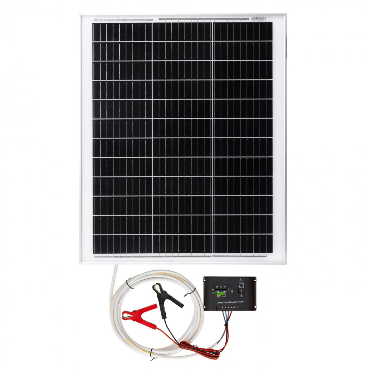 Panou solar monocristalin 50W cu regulator de încărcare